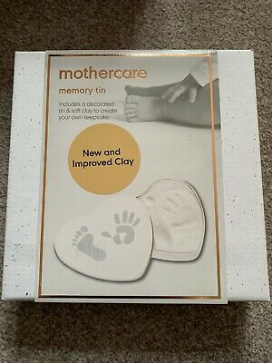 BNWT Mothercare Baby casting Foot//hand print// birth//christening memory tin gift