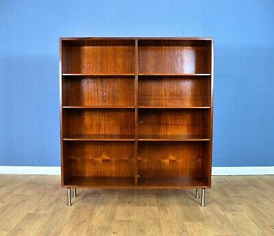 Mid Century Retro Danish Model 6 Rosewood Bookcase Shelving Storage by Omann Jun