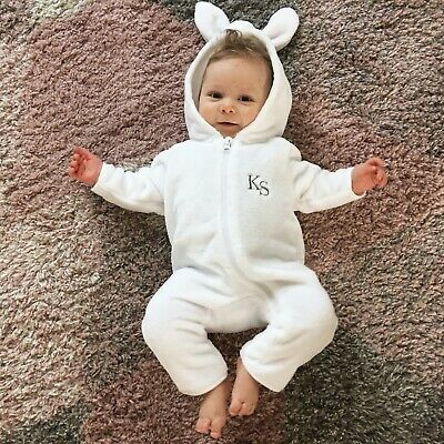 Bunny Rabbit Personalised One-piece Baby/Toddler Embroidered Customised Present
