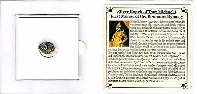 Tsar Michael I,Wire Money Of The Romanov Dynasty, Mini Album,Story & Certificate