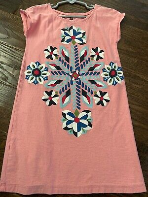Tea Collection Dress Girls Size 6 Beautiful Tunic Flowy Soft Knit Comfy *READ!!!