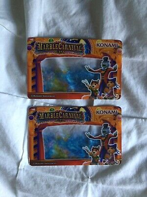 ROUND 1 ARCADE RARE CARD SET OF 2 From Marble Carnival Coin Pusher Game