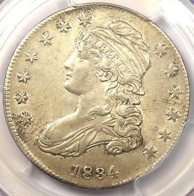 1834 Capped Bust Half Dollar 50C (Small Date) - Certified PCGS AU58 - $850 Value