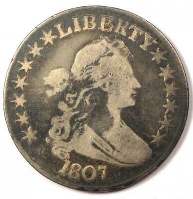 1807 Draped Bust Half Dollar 50C - Fine Details Condition - Rare Early Coin!