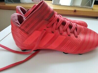 Adidas Nemesis Pink / Red Boys Girls Moulded Football junior Rugby Boots Size 1