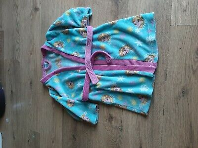 Girls Disney Frozen Velor Dressing Gown Aged 6-7 Years