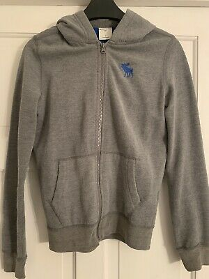 abercrombie and fitch Kids Small Grey And Blue Hooded Top  Boys Small (9-10)