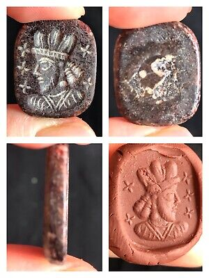 Fire Gurnit Stone Very Ancient Greek King Intaglio Stamp Seal