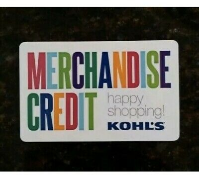 Kohls Gift Card   $34.00   In Store OR Online!   No Expiration Date!
