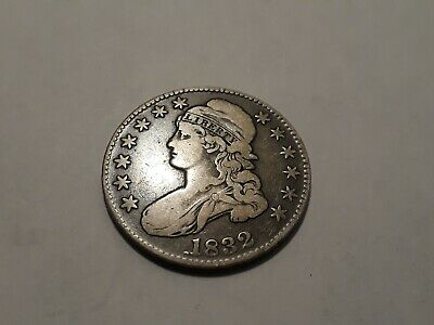 1832 Capped Bust Silver Half Dollar...very Nice Grade Toned Coin