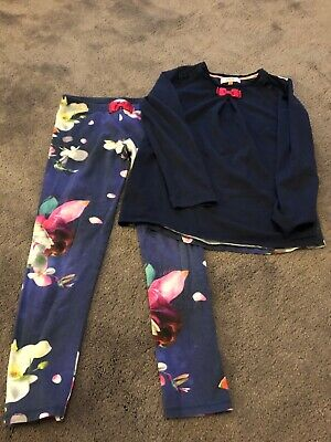 girls ted baker pyjamas age 9/10 years . Navy flowers . Great condition