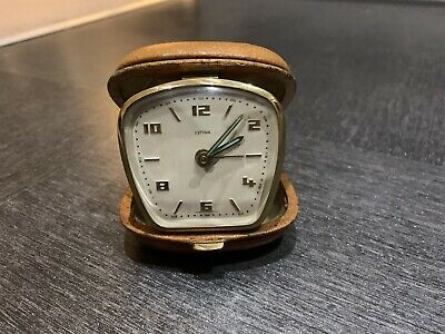 Vintage Estyma W German travel alarm clock