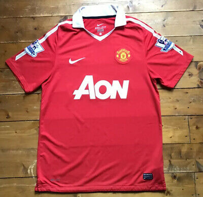 Official Man United Home Shirt By Nike. 2010. #3 EVRA. Size M Adult
