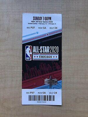 2020 NBA All-Star Game Full Ticket Stub Chicago Skybox Suite