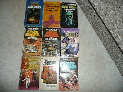 Lot 9 Science Fiction Paperbacks Isaac Asimov Nine Tomorrows Second Foundation