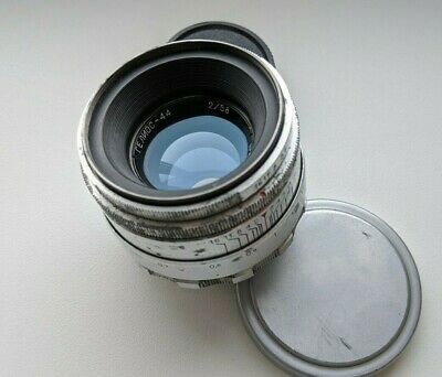 Soviet HELIOS 44 f2/ 58mm white silver USSR Lens M39 (8 blades)