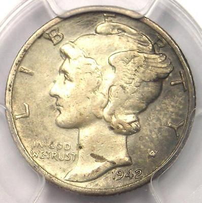 1942/1-D Mercury Dime 10C - PCGS XF Details (EF) - Rare Overdate Variety Coin!