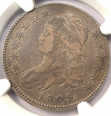 1809 XXX Capped Bust Half Dollar 50C O-101 R5 - NGC VF Dets - Rarity 5 Variety!
