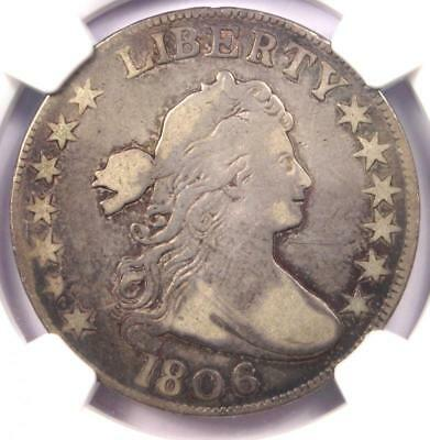 1806 Draped Bust Half Dollar 50C Coin - Certified NGC Fine Details!