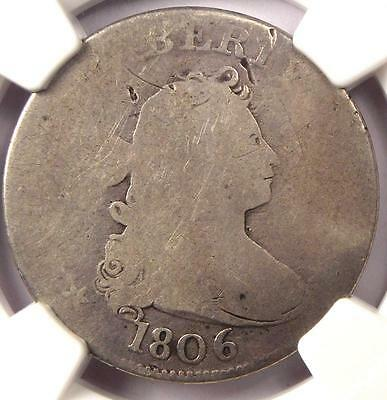 1806 Draped Bust Quarter 25C - NGC Fair Details - Rare Early Certified Coin