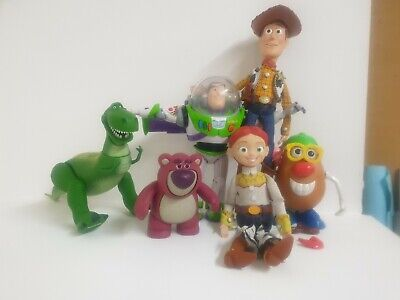 Disney Toy Story Bundle Woody, Buzz, Rex, Mr Potato Head, Jessie, Lotso