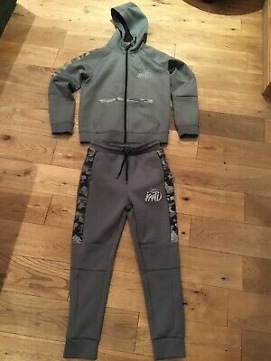 Boys Grey KWD / Kings Will Dream Tracksuit Age 10-11 Years