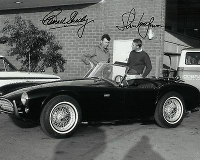 Carroll Shelby Signed 8X10 Photo Rp Steve McQueen Ford Mustang AC Cobra