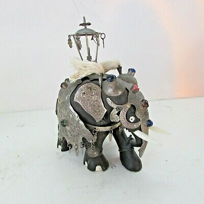 Sculpture Elephant H.18 Upholstery in Galvanic in Argento 925/% Polished 4401//18