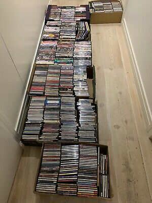 Job Lot Of 450 Easy Listening CDs And 200 Mixed DVDs. Car Boot Bundle No Reserve