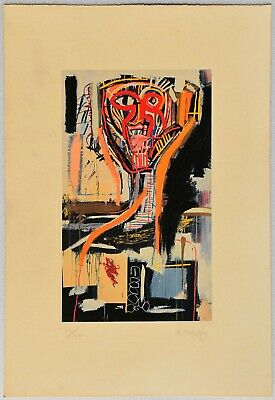 JEAN-MICHEL BASQUIAT Lithograph signed by hand