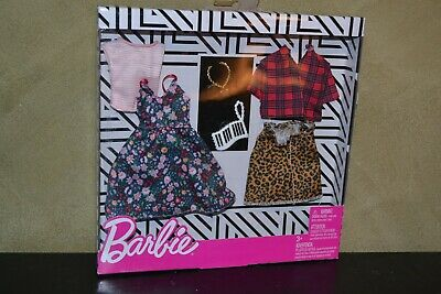 Brand New Barbie Doll Clothes Fashions 2 Pack Prints And Style
