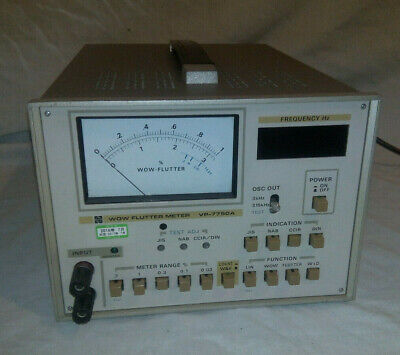 National Vp-7750A Wow And Flutter Meter Tape Deck Calibrator
