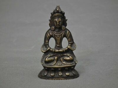 Antique 18th century Chinese Qing Dynasty Bodhisattva Bronze Figure Quan Yin