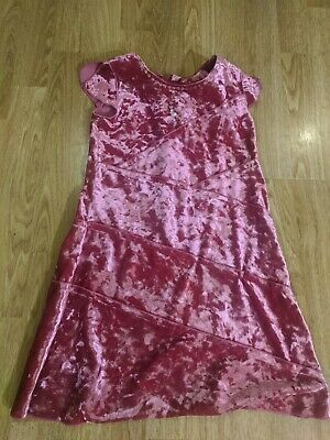 Beautiful girl's pink velvet party dress - Marks and Spencer - 3-4 years