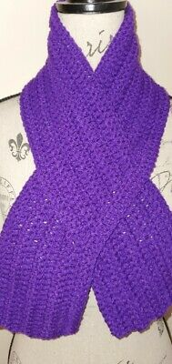 Purple Crochet Keyhole Scarf Neck Warmer - Beautiful Color & Design  Brand New