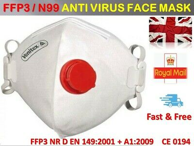 Anti virus Flu Dust Fumes Filter Safety Face Mask Higher Protection FFP3 N99