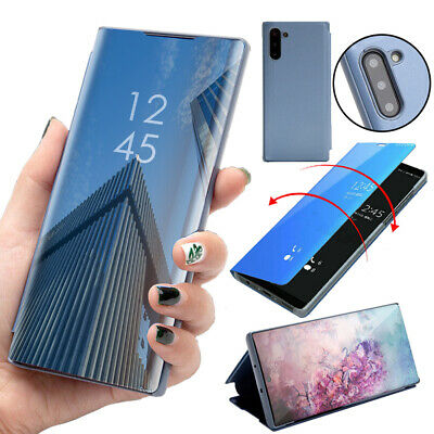 For Samsung Galaxy Note 8 9 Note 10 Plus Smart Mirror View Flip Stand Case Cover