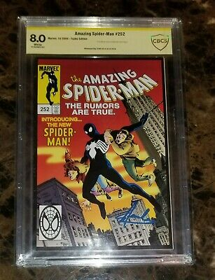 Amazing Spider-Man #252 Comic Graded CBCS 8.0 Signed by Stan Lee (cgc,pgx)