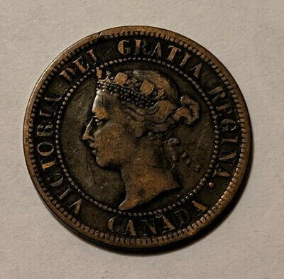 1891 - Canada - Large 1 Cent Coin - Large Leaves - Large Date - Llld - K7 5/29