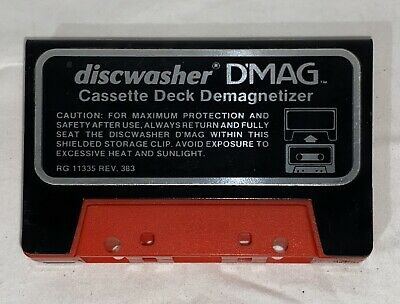Discwasher D'Mag Cassette Deck Demagnetizer with Metal Case