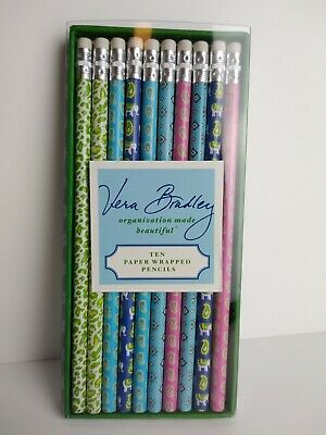 Vera Bradley 10 Pack of pencils decorative paper wrapped