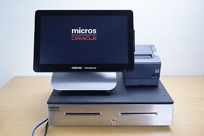 Micros Oracle POS Terminal Workstation 6(610) W/Cash Register/Epson Printer