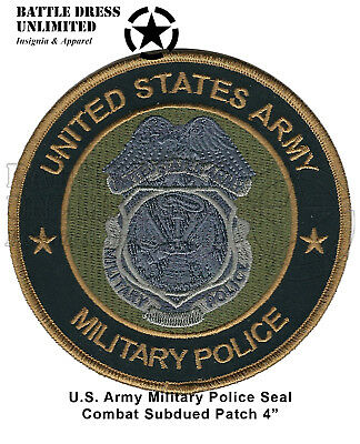 Patch: US Army Military Police MultiCam OCP Combat Subdued Seal (MP Badge)