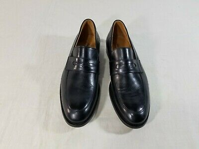 Men's SAKS FIFTH AVENUE black loafers size 10 medium MADE IN ITALY