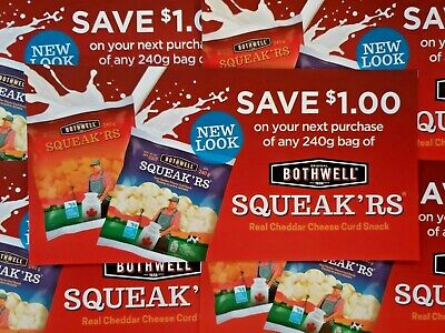Coupons (10) Bothwell Squeak'rs Cheese Curds (Canada Only)