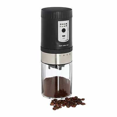 Electric Coffee Mill Conical Grinding Mechanism Espresso Bean Grinder USB Cable