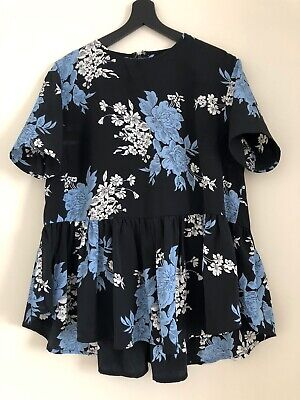 Asos Maternity Top Blouse Floral Size 8 Small
