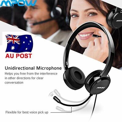 Mpow USB Stereo Over Head Headsets Earphone with Noise Cancelling Mic Handsfree