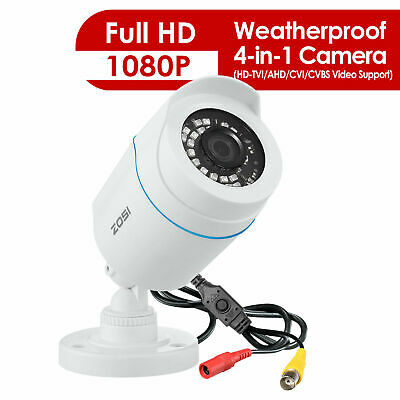ZOSI Surveillance Camera 1080P 4in1 CCTV Security Camera Outdoor IR Night Vision