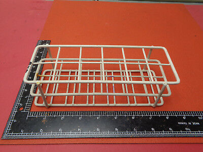 Vintage laboratory metal wire test tube rack 12 slot U46XP3